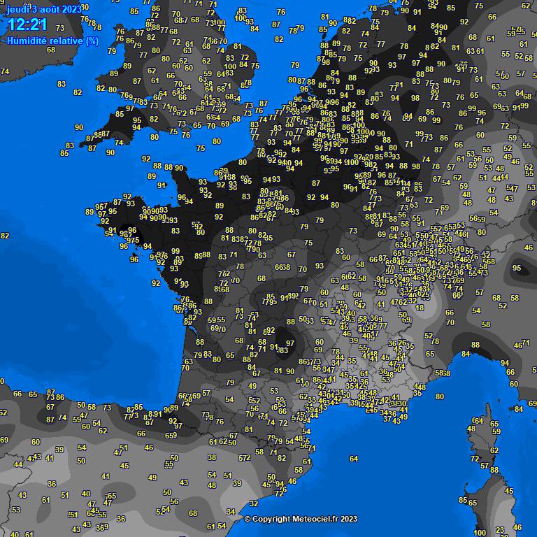 Observation de l'humidité en France