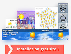 Widget météo La Machine